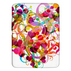 Abstract Colorful Heart Samsung Galaxy Tab 3 (10 1 ) P5200 Hardshell Case