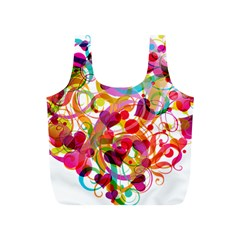 Abstract Colorful Heart Full Print Recycle Bags (s)  by BangZart