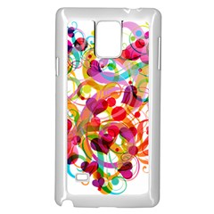 Abstract Colorful Heart Samsung Galaxy Note 4 Case (white) by BangZart