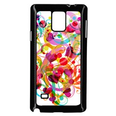 Abstract Colorful Heart Samsung Galaxy Note 4 Case (black) by BangZart