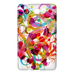 Abstract Colorful Heart Samsung Galaxy Tab 4 (7 ) Hardshell Case  by BangZart