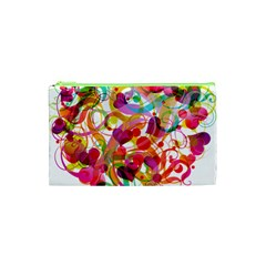 Abstract Colorful Heart Cosmetic Bag (xs) by BangZart