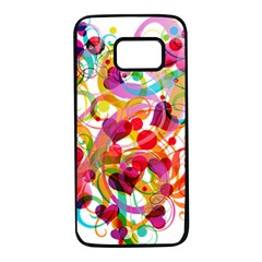 Abstract Colorful Heart Samsung Galaxy S7 Black Seamless Case by BangZart