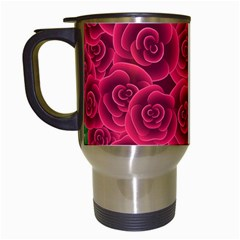 Floral Heart Travel Mugs (white) by BangZart