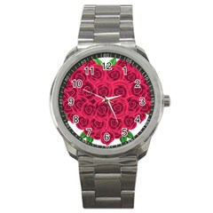 Floral Heart Sport Metal Watch by BangZart