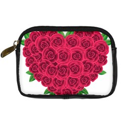 Floral Heart Digital Camera Cases by BangZart