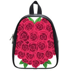 Floral Heart School Bags (small)  by BangZart