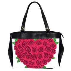 Floral Heart Office Handbags (2 Sides)