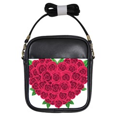 Floral Heart Girls Sling Bags by BangZart