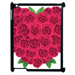 Floral Heart Apple Ipad 2 Case (black) by BangZart