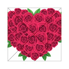 Floral Heart Acrylic Tangram Puzzle (6  X 6 ) by BangZart