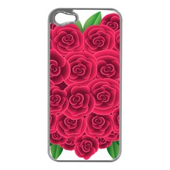 Floral Heart Apple Iphone 5 Case (silver)