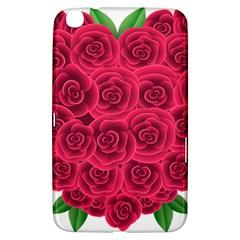 Floral Heart Samsung Galaxy Tab 3 (8 ) T3100 Hardshell Case