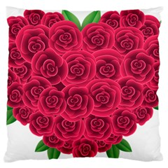 Floral Heart Standard Flano Cushion Case (one Side)