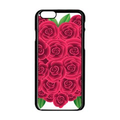 Floral Heart Apple Iphone 6/6s Black Enamel Case by BangZart