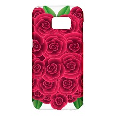 Floral Heart Samsung Galaxy S7 Edge Hardshell Case by BangZart