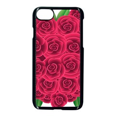 Floral Heart Apple Iphone 7 Seamless Case (black)