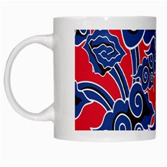 Batik Background Vector White Mugs by BangZart