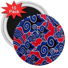 Batik Background Vector 3  Magnets (10 Pack)