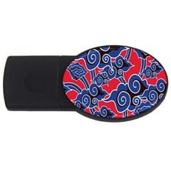 Batik Background Vector Usb Flash Drive Oval (2 Gb) by BangZart