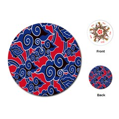 Batik Background Vector Playing Cards (round)  by BangZart
