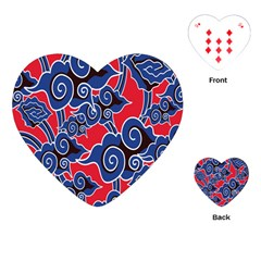 Batik Background Vector Playing Cards (heart)  by BangZart