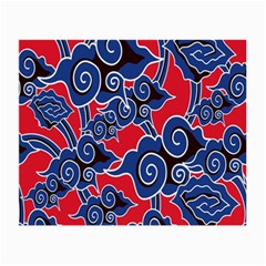Batik Background Vector Small Glasses Cloth (2 Side) by BangZart