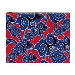 Batik Background Vector Cosmetic Bag (xl)