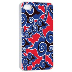 Batik Background Vector Apple Iphone 4/4s Seamless Case (white) by BangZart