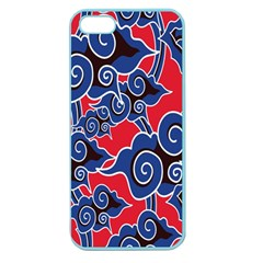 Batik Background Vector Apple Seamless Iphone 5 Case (color)