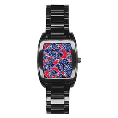 Batik Background Vector Stainless Steel Barrel Watch by BangZart