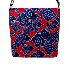 Batik Background Vector Flap Messenger Bag (l)  by BangZart