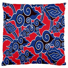 Batik Background Vector Large Flano Cushion Case (two Sides)