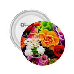 Colorful Flowers 2 25  Buttons