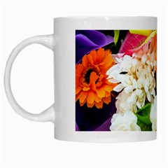 Colorful Flowers White Mugs