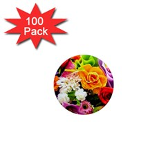 Colorful Flowers 1  Mini Magnets (100 Pack)  by BangZart