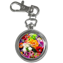 Colorful Flowers Key Chain Watches by BangZart