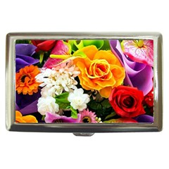 Colorful Flowers Cigarette Money Cases by BangZart
