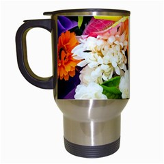 Colorful Flowers Travel Mugs (white) by BangZart
