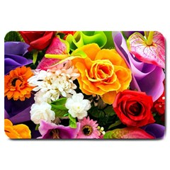 Colorful Flowers Large Doormat  by BangZart