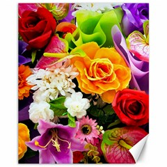 Colorful Flowers Canvas 11  X 14   by BangZart