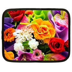 Colorful Flowers Netbook Case (large) by BangZart