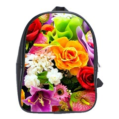 Colorful Flowers School Bags(large)  by BangZart