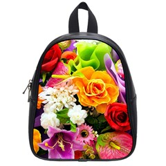 Colorful Flowers School Bags (small)  by BangZart