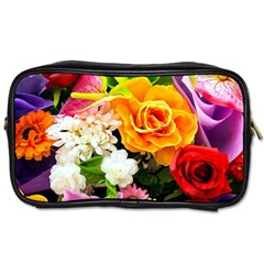 Colorful Flowers Toiletries Bags