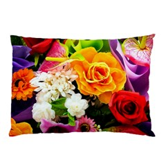 Colorful Flowers Pillow Case (two Sides) by BangZart