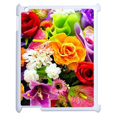 Colorful Flowers Apple Ipad 2 Case (white) by BangZart