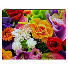 Colorful Flowers Cosmetic Bag (xxxl)