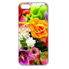 Colorful Flowers Apple Seamless Iphone 5 Case (clear)