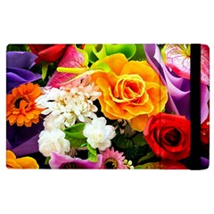 Colorful Flowers Apple Ipad 2 Flip Case by BangZart